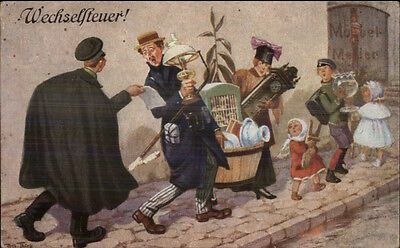 German Family Moving Tax Wechselsteuer Arthur Thiele Social Commentary gfz