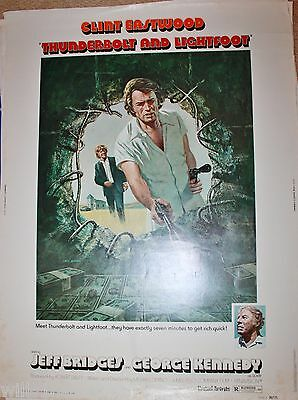 THUNDERBOLT AND LIGHTFOOT Original Movie Poster 1974 Clint Eastwood