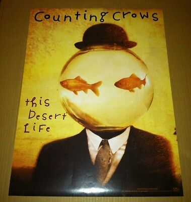 COUNTING CROWS 1999 PROMO POSTER for This Desert Life CD USA MINT 18x24