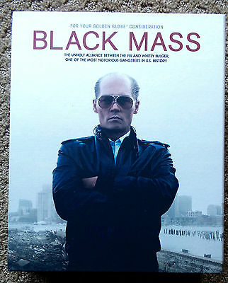 Black Mass Movie Deluxe Box Fyc Press Kit Limited Edition Promo Script Cd