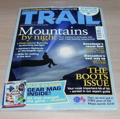 Trail hillwalking magazine DEC 2016 Mountains by Night, Tryfan & Glyder Fawr