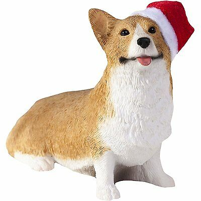 Sandicast Ornament Welsh Corgi Red Pembroke with Stocking Christmas Holiday....