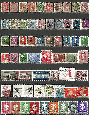 Norway from 1886 year , nice small collection,  used stamps