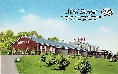 Vtg MOTEL DONEGAL Donegal, PA Pennsylvania Turnpike Unused Chrome Postcard