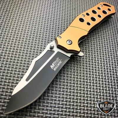 "8"" M-Tech MILITARY SPRING ASSISTED RESCUE TACTICAL FOLDING OPEN POCKET KNIFE New"