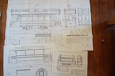 Southend of Sea Corporation Light Tramways Railways Technical Diagrams x3
