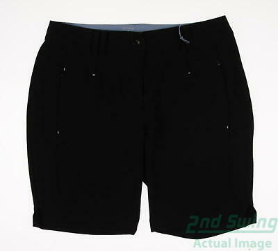 New Womens Antigua Golf Shorts Size 10 Black MSRP $40