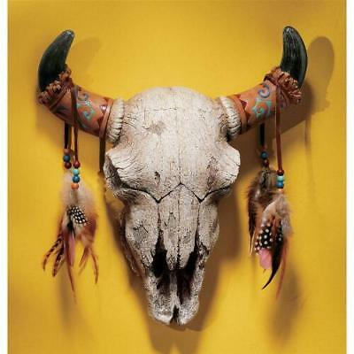 SPIRIT OF THE WEST COW SKULL DESIGN TOSCANO wall masks  native american indians