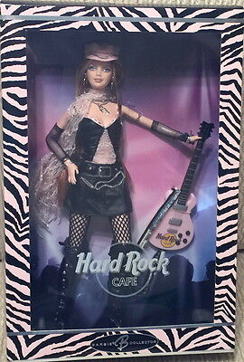 MATTEL 2004 Barbie DOLL Hard Rock Cafe Rocker Girl with Guitar New in Box #18409