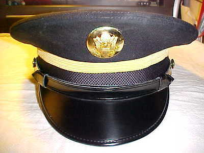 Us Army New  Enlisted/nco Black Dress Service Hat Size 7 1/4