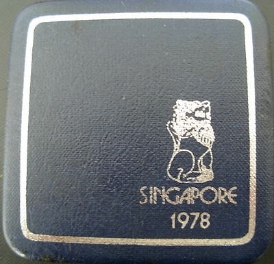 Singapore 1978 Silver $1 Proof with Original Box and Certificate of Authenticity