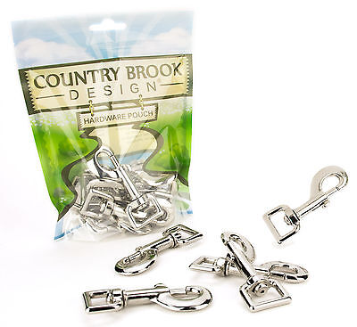 50 - Country Brook Design™ 3/4 Inch Heavy Swivel Snap Hooks
