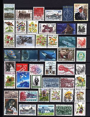 622-NICE Used STAMPS LOT OF NORWAY-BUEN LOTE de SELLOS usados de NORUEGA.