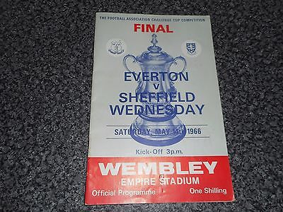 1966 F A CUP FINAL :  EVERTON  v  SHEFFIELD WEDNESDAY @ WEMBLEY ~ MAY 14th