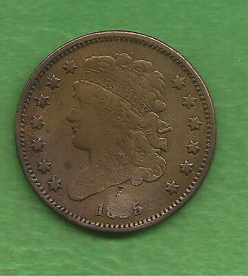 1835 Classic Head Half Cent, Only 398,000 Minted - 181 Years Old!!!