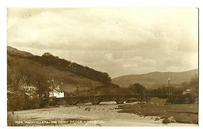 Machynlleth - a sepia photographic postcard of the Dovey Bridge