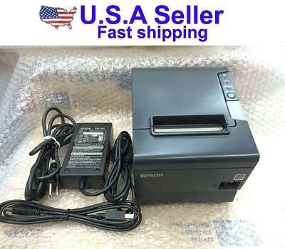 Epson TM-T88IV USB POS Thermal Receipt Printer Free Power adapter Supply & Cable