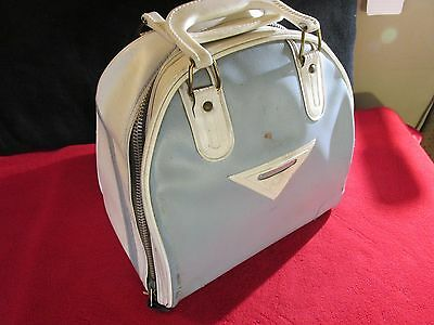 AMF - Vintage One Ball Bowling Ball Bag - Blue Bag & WHITE Accent Colors