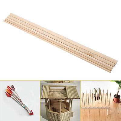 10Pcs Round Wood Stick Wooden Dowel White Birch Making Trunk Pole Hobby Craft DH