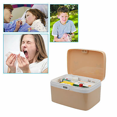 Pill Tablet Organiser Medicine Box 4 Compartment Container Weekly Storage Case