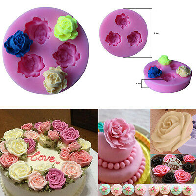 Rose Flower Silikon Fondant Form Kuchen Dekoration Schokolade Backen Gussform