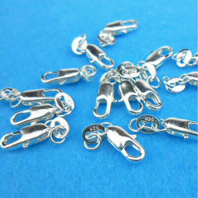 4x16mm Lobster Parrot Clasps Sterling Silver plated 5 or 10pcs NecklaceConnector