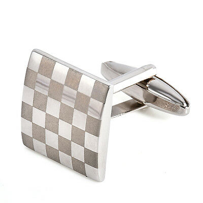 Square Stainless Steel Mens Wedding Party Gift Shirt Cuff Links Cufflinks