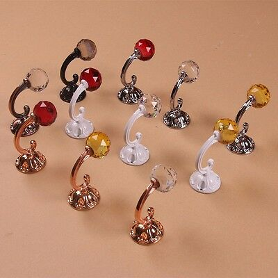 Metal Crystal Ball Hook Hanger Wall Mounted Coat Clothes Hanger Hanging Vintage