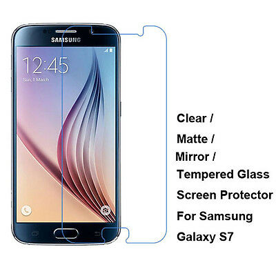 Clear/ Matte/ Tempered Glass Screen Protector Film Guard For Samsung Galaxy S7