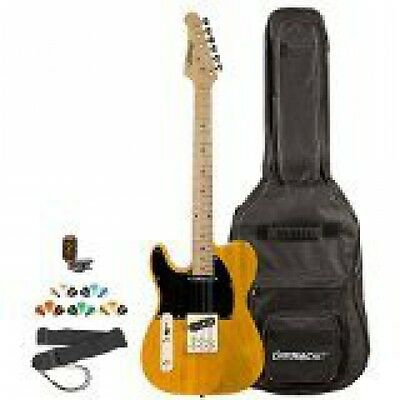 Sawtooth ST-ET-LH-BSB-KIT-2 Left Handed Electric Guitar, Butterscotch with Black