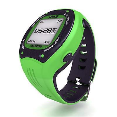 Multi-Function Digital LED Sports Training Watch with GPS Navigation Green Color