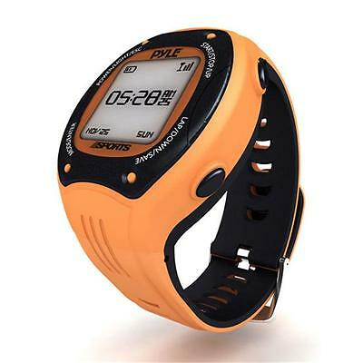 Multi-Function Digital LED Sports Training Watch with GPS Navigation Orange C...