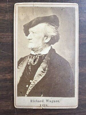 Orig 1870's Photo CDV Composer RICHARD WAGNER (1813-1883)
