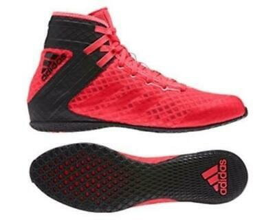 Adidas Adults Mens Speedex 16.1 Shock Black/Red Boxing Boots Shoes