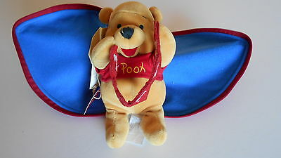 Disney Store Winnie the Pooh Valentines Day SOFT PLUSH TOY Zip up heart with tag