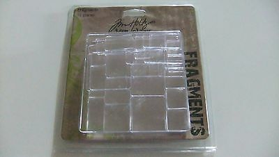 Jim Holts Fragments Small Clear Tile Adornment Adhere to Paper Cases Pages M5