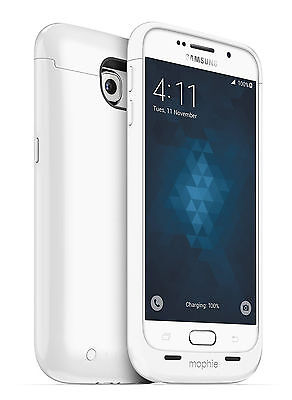mophie Juice Pack External Charging Battery Case for Samsung Galaxy S6 - White