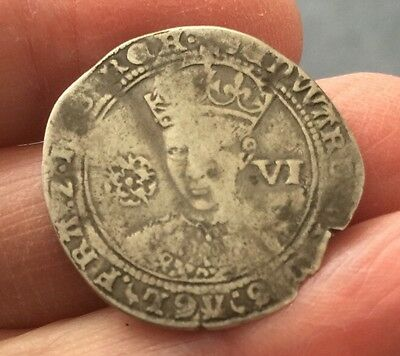 Edward Vi, 1547-53. Silver Sixpence - Fine Silver Issue