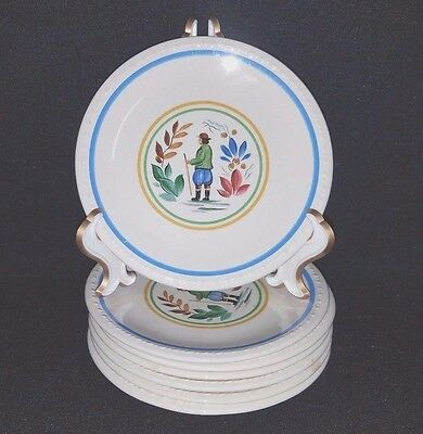 Taylor Smith & Taylor PEASANT - Bread & Butter Plate Set of 7