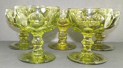 Lot Of 5 Provincial Verde Green Champagne Glass Imperial From Old Heisey Molds