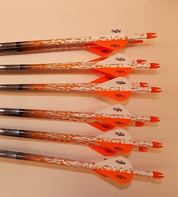 Easton ST Axis Full Metal Jacket Arrows 340 w/Blazer Vanes Rain Wraps 1 Dz