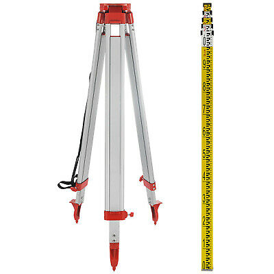 1.65M Aluminum Tripod 5M Staff For Laser Level Measuring Surveying Levelling