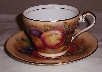Aynsley Orchard Gold Teacup and Saucer.