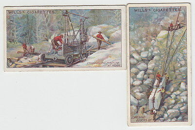 2 Vintage MARBLE MINING Tobacco Cards from 1916 Italy