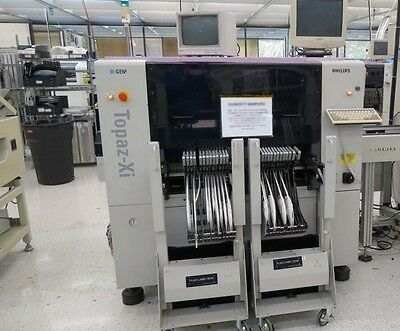 Philips Assembleon Topaz Xi Pick and Place system 8 head ITF feeder machine