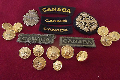 Cap/Buckle Badges Five Canada Badges & Buttons To The Canadian Armed Forces