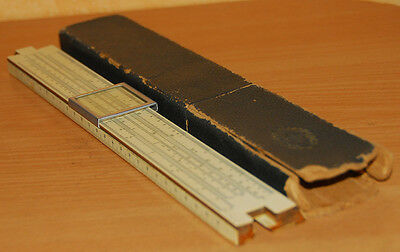 VINTAGE SOVIET SLIDE RULE LOGARITHMIC CALCULATOR 1949 wooden
