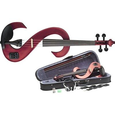 Stagg EVN Electric Violin Outfit - Metallic Red