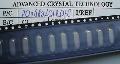 100pcs ACT HC49/SMX 6.60 MHz Crystals