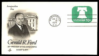 Wash Dc Aug 9 1974 Gerald R Ford Inauguration Day Artcraft Cachet On Cover